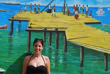 Giulia al suo arrivo a Capo Verde